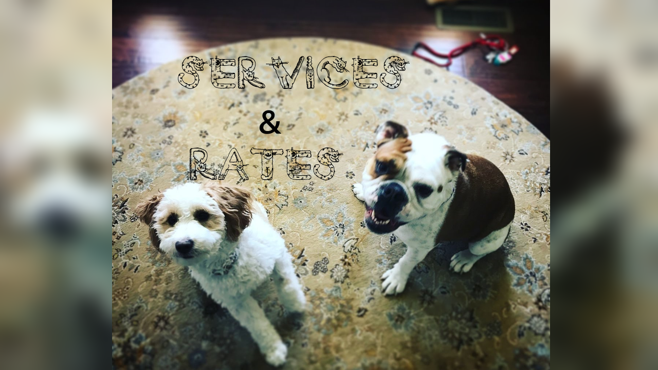 Services and Rates - Peace of Mind Pet Services